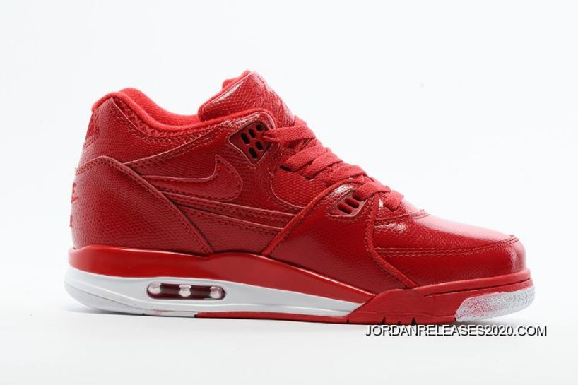ccebc9e9fd48 Latest Nike Air Flight  89 Red Leather Basketball Shoes