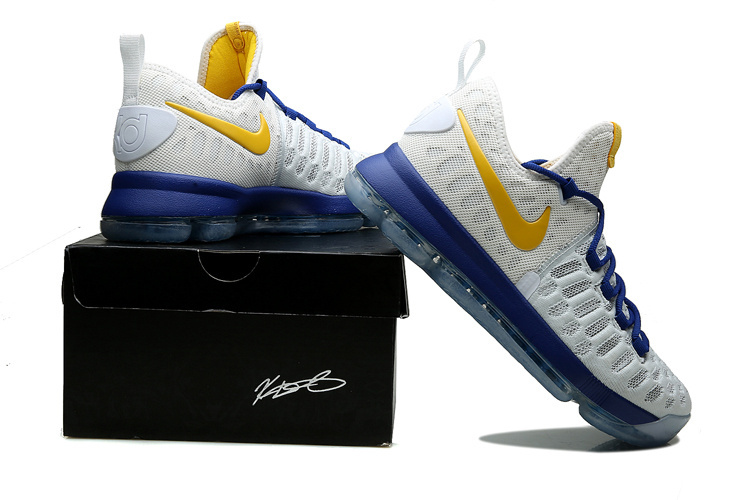 "detailed look e77ad 23501 Nike KD 9 ""Golden State Warriors"" Latest"