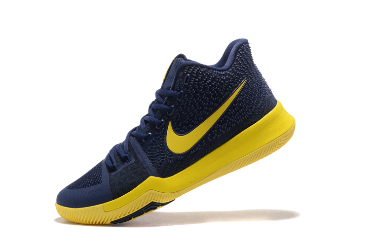 """Top Deals Nike Kyrie 3 """"Cavs"""" Blue Yellow"""