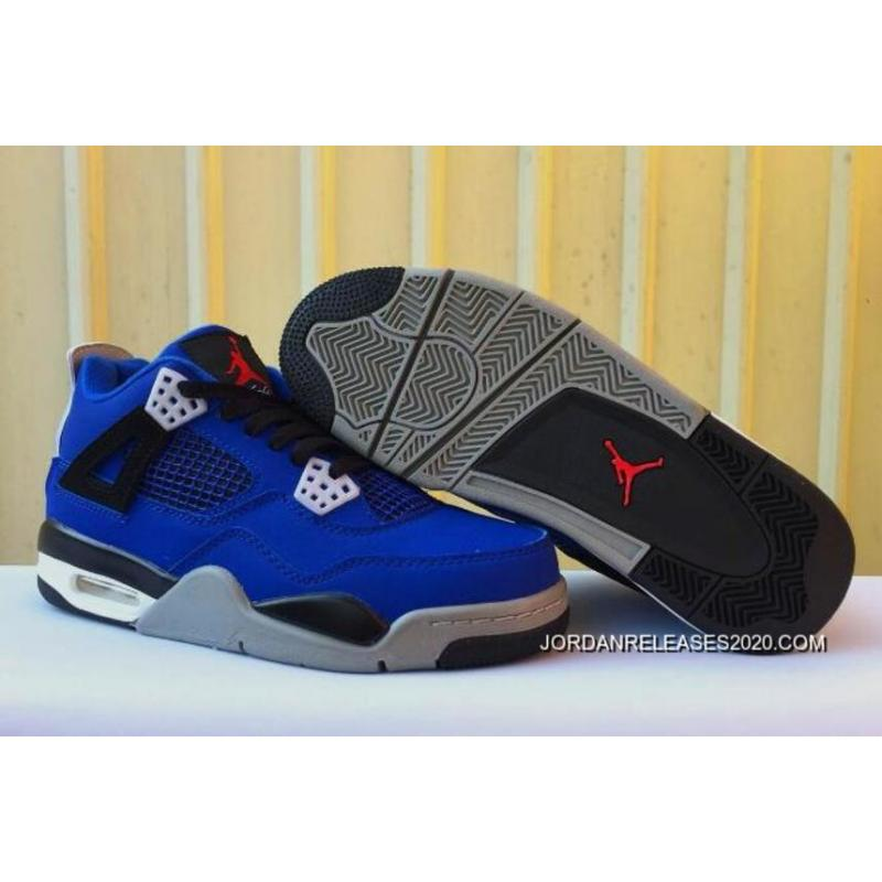 Air Jordan 4 Encore BlueBlackGreyRed Free Shipping