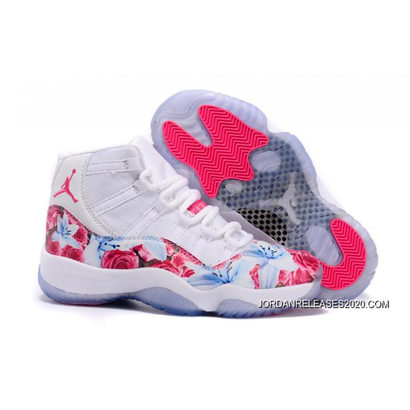 New Jordans 2020.Air Jordan 11 Gs Floral Flower White Pink 2020 For Sale