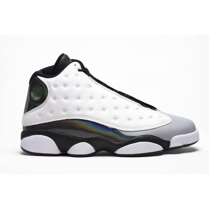 "quality design d65a5 20d61 New Air Jordan 13 Retro ""Barons"" Tropical Teal Black-Wolf Grey New Style"