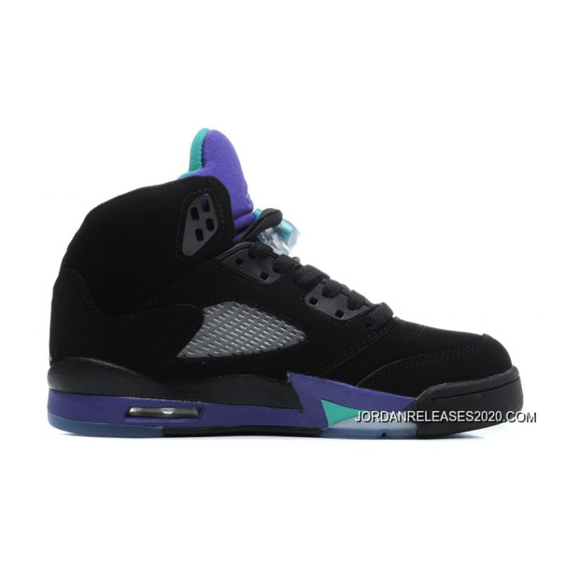 d277e642e8e 2020 Top Deals New Air Jordan 5 Retro Black New Emerald-Grape Ice ...