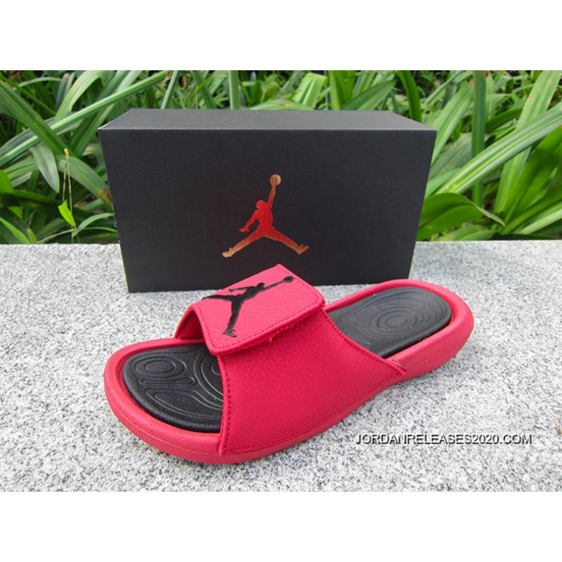 068736c995ef0b Air Jordan Hydro 6 Sandals Gym Red Black Latest ...