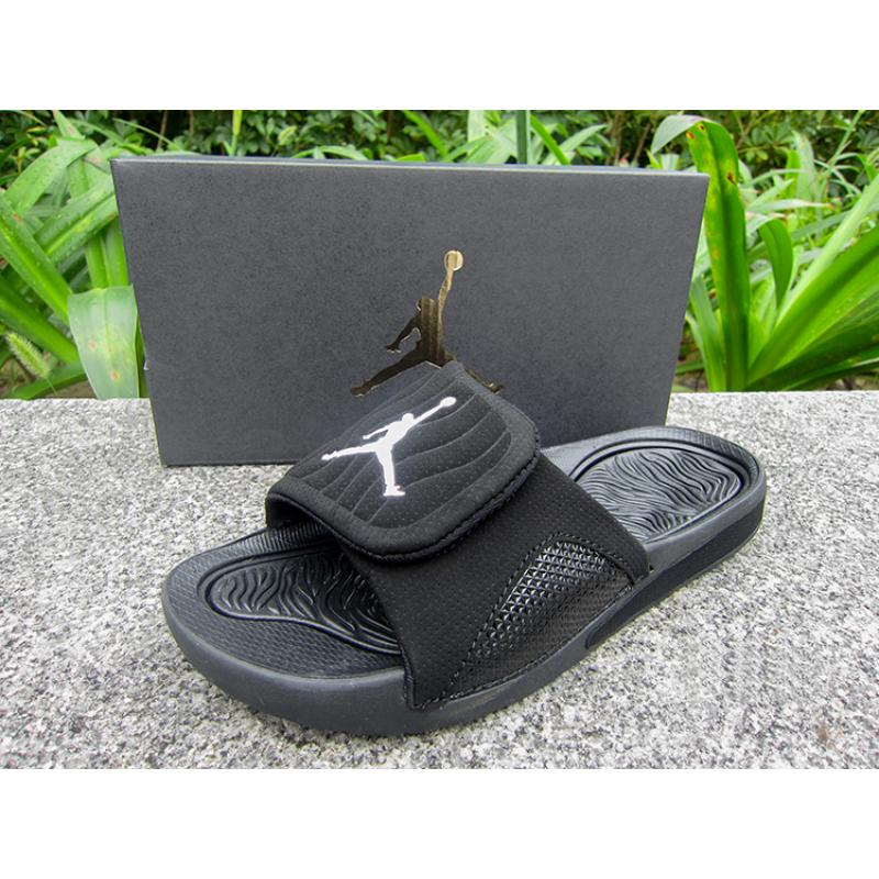 576b7eb2cee3 WMNS Jordan Hydro V Retro Sandals All Black Free Shipping ...