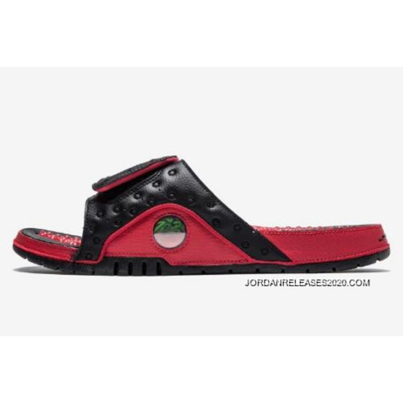 3336b219f7cbe2 Latest Air Jordan Hydro 13 Black Gym Red Sandals ...