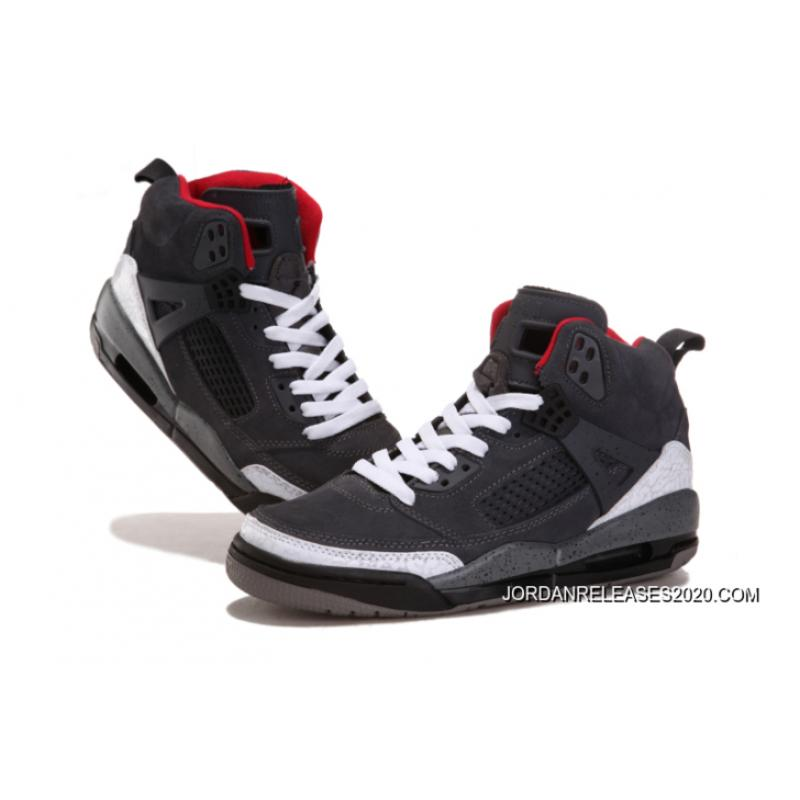 "... New Jordan Spizike ""Cement   Nubuck"" Grey White-Gym Red New Release ... 8ffc31ab9"