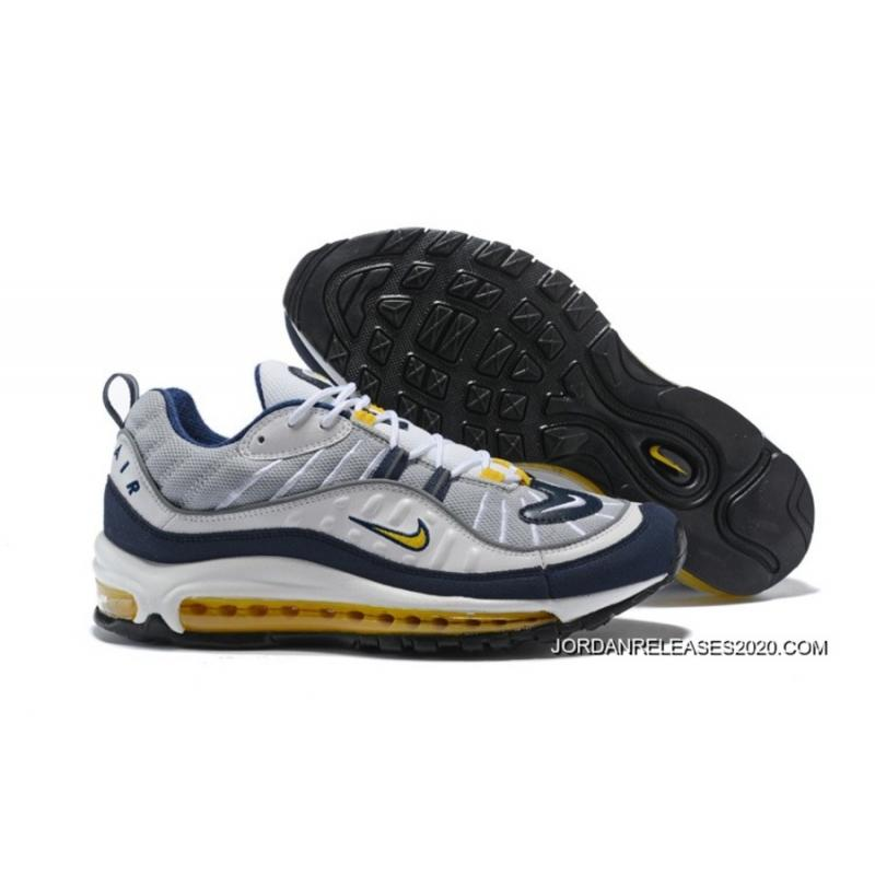 "online retailer 37797 37e03 Nike Air Max 98 ""Fearless 90s"" White Tour Yellow-Midnight Navy- ..."
