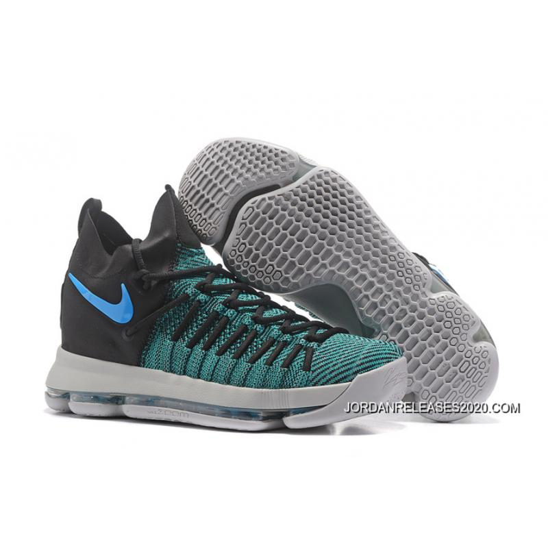 the best attitude cabbe 45efe Copuon Nike Zoom KD 9 Elite Black Clear Jade Basketball Shoes ...