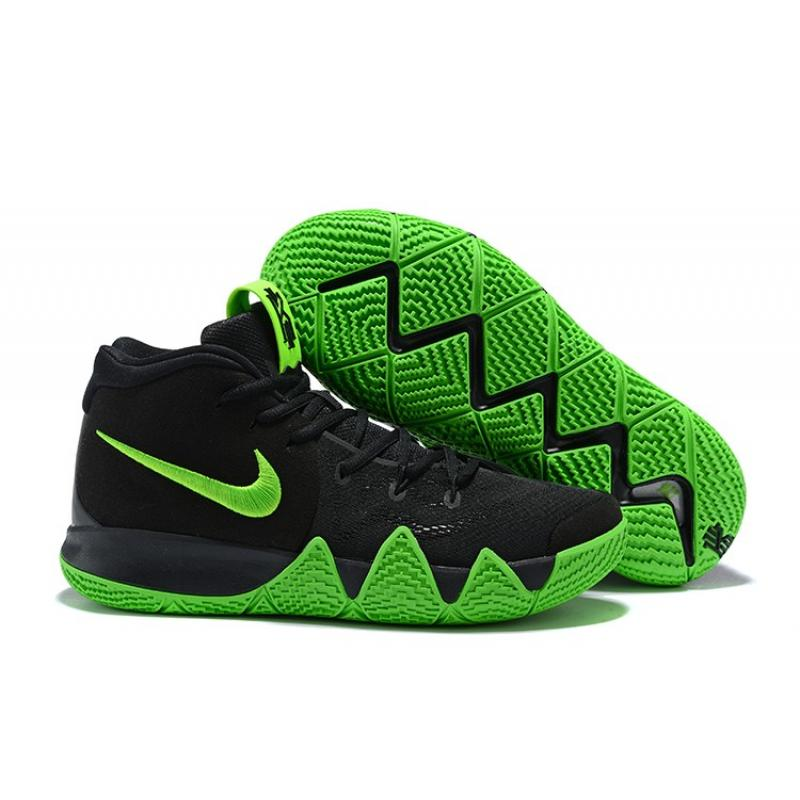san francisco bf4c2 0a8ac New Release Nike Kyrie 4 Black Green ...