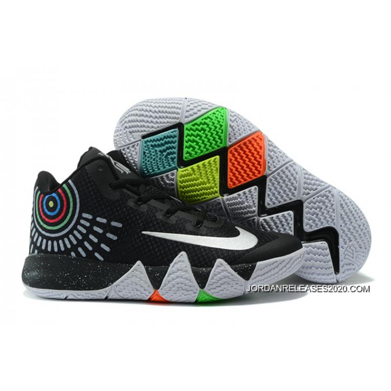 newest 120db 60296 2020 Online Nike Kyrie 4 Black White Grey