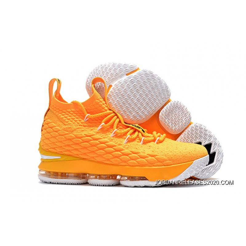 c6af23bbecb Best Nike LeBron 15 Yellow/White-Black Basketball Shoes, Price ...