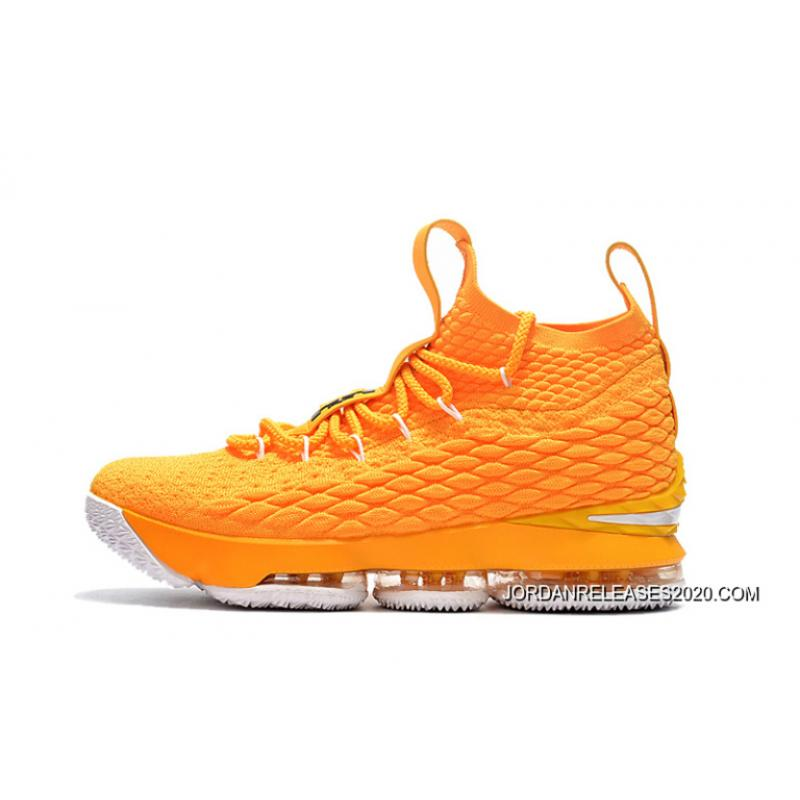 reputable site 15a10 45df1 ... Best Nike LeBron 15 YellowWhite-Black Basketball Shoes ...