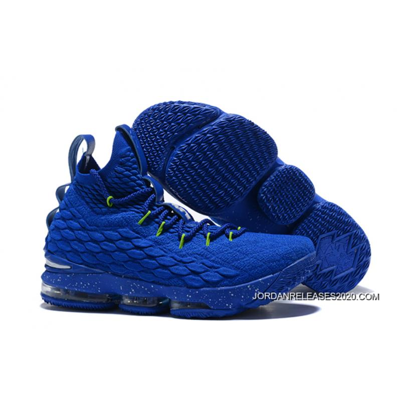 599b8903ea7 Nike LeBron 15 Royal Blue Green-White 2020 Super Deals ...