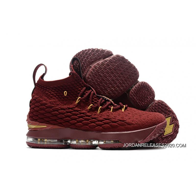 ee304603661 2020 Latest Nike LeBron 15 Wine-Red Gold ...