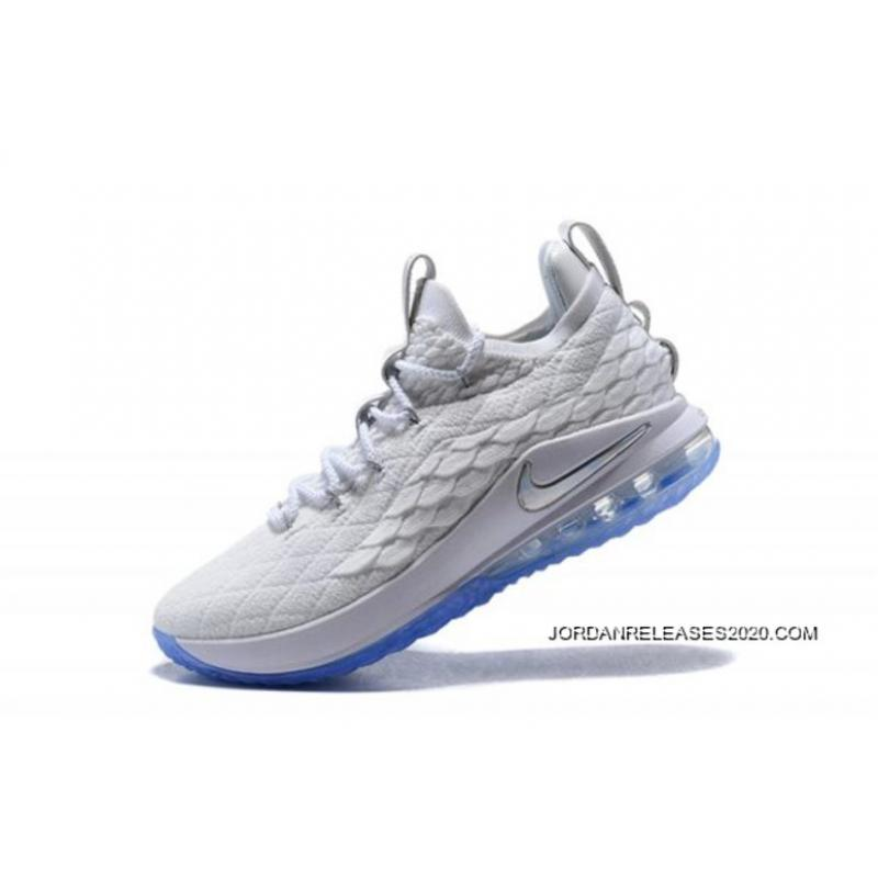 """bf0d3e793f3 Best Nike LeBron 15 Low """"White Ice"""" Men s Basketball Shoes ..."""