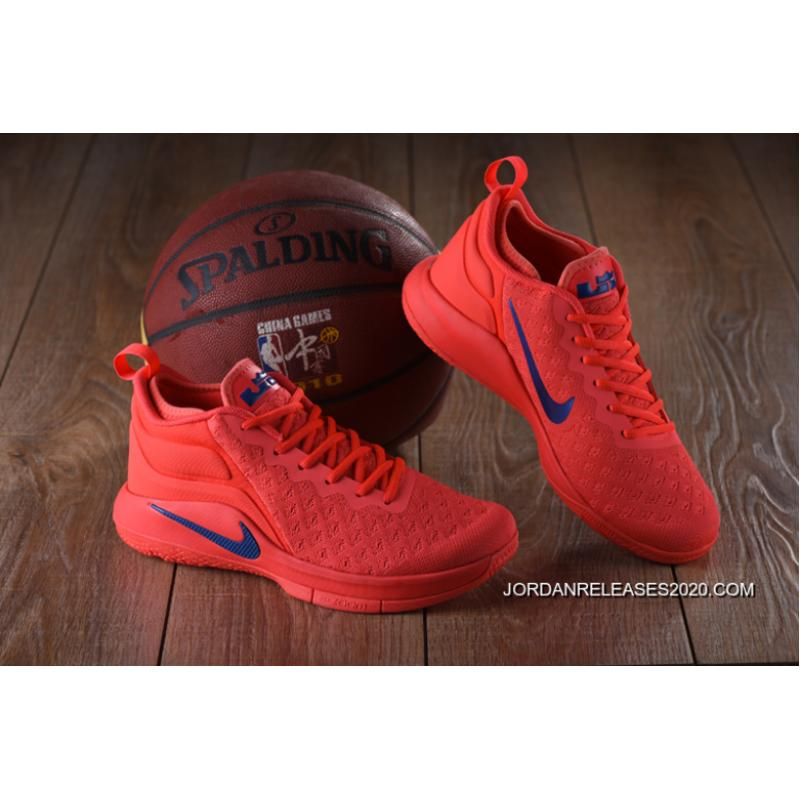 b7a46843093 For Sale Nike Lebron Witness 2 Flyknit Red Blue ...