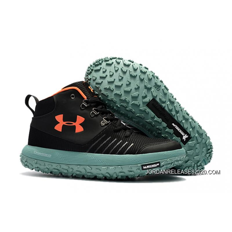 reputable site 2115e b03f6 2020 Outlet Under Armour Fat Tire GTX Black Orange Green Hiking Boots Trail  Shoes
