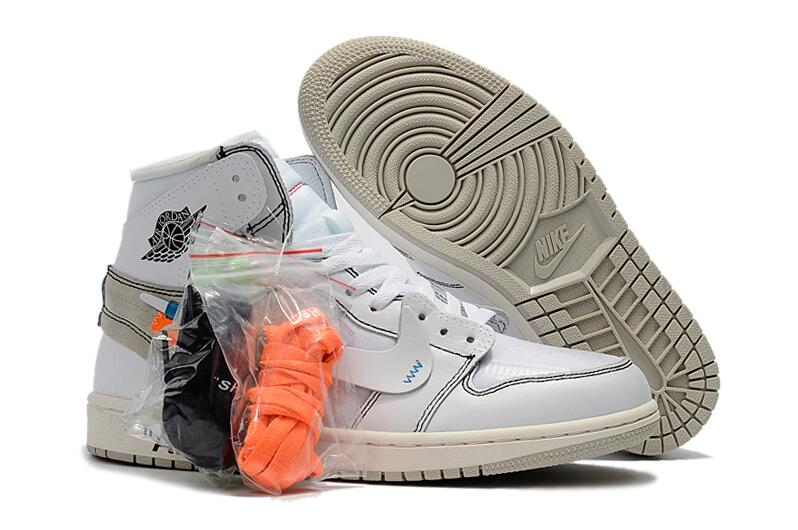 the latest 4199c cc32f Outlet Off-White X Air Jordan 1 White