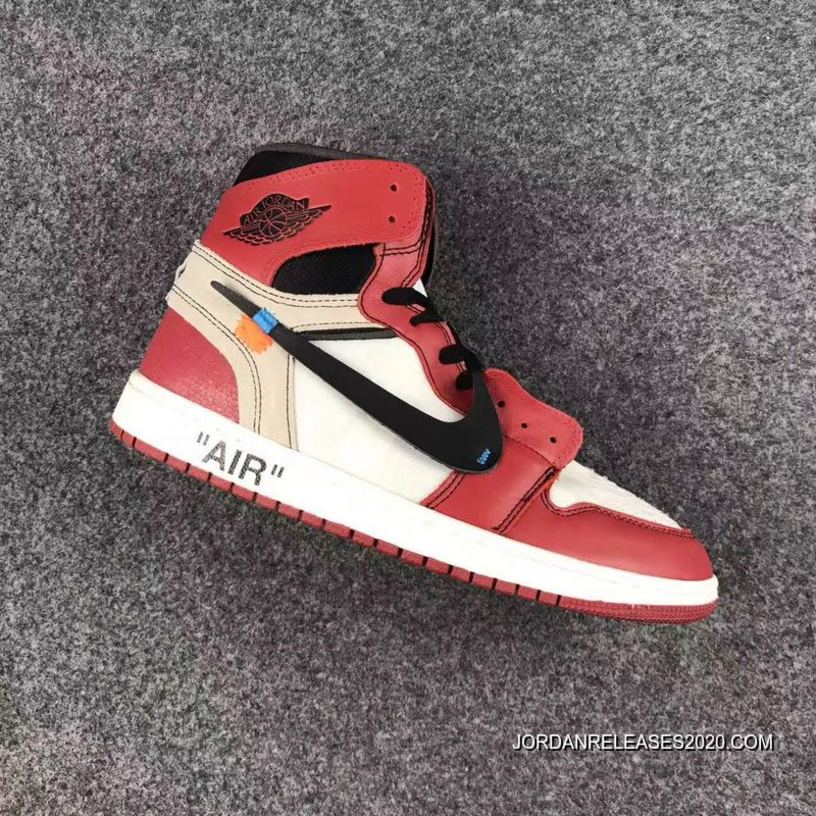 "4b67611768d50 Latest OFF-WHITE X Air Jordan 1 High OG ""The Ten"" White Black ..."