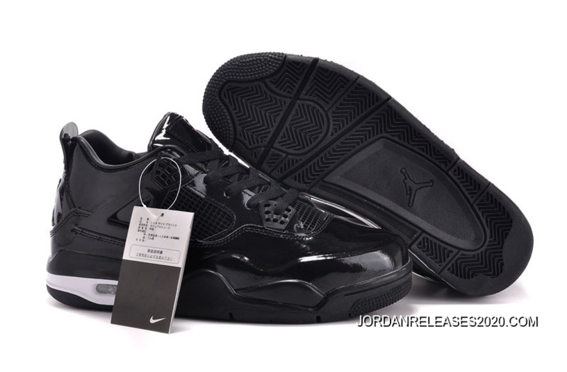 9baaf271f8d New Air Jordan 4 11Lab4 Black Patent Leather For Sale, Price: $87.00 ...