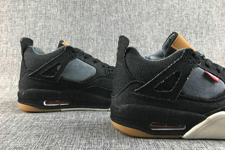 new style 142f2 b169f Outlet Levi s Air Jordan 4 Black Denim