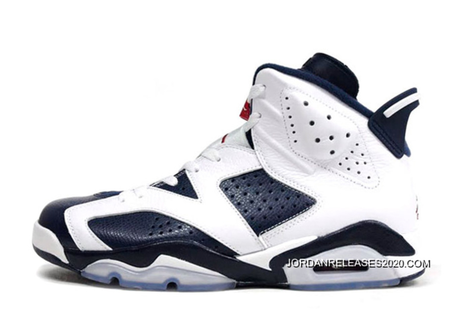 """newest bde2d a0deb 2020 New Release New Air Jordan 6 Retro """"Olympic"""" White Midnight Navy-"""