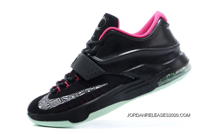 """a0bfc0824400f8 Nike Kevin Durant KD 7 VII """"Black Yeezy"""" Black Hyper Pink New Release"""