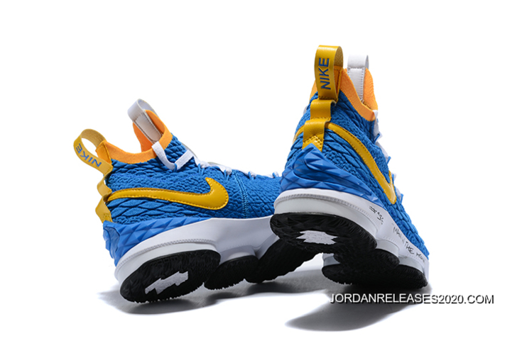 "5f707c8e44275 Nike LeBron 15 ""Waffle Trainer"" Blue Yellow Where To Buy"