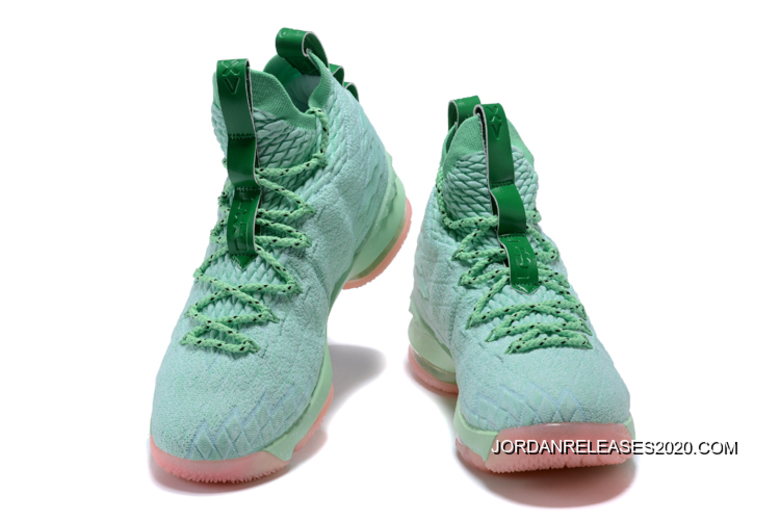 buy online 645e6 3382d ... low cost free shipping nike lebron 15 mint green pink c2339 80233 ...