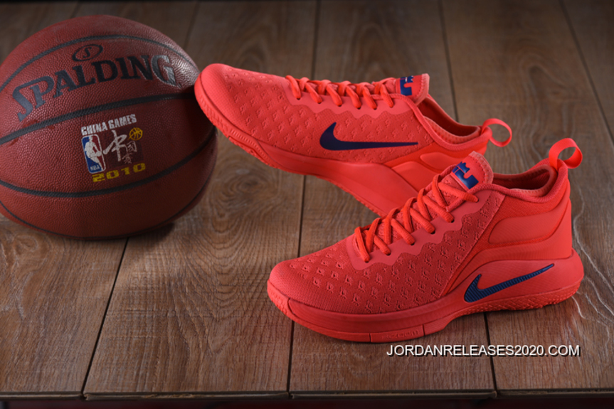 601e0731c938 For Sale Nike Lebron Witness 2 Flyknit Red Blue
