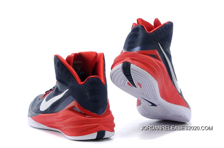 "b8147f5b030f Nike Hyperdunk 2014 ""USA Away"" Obsidian White-University Red Online ..."