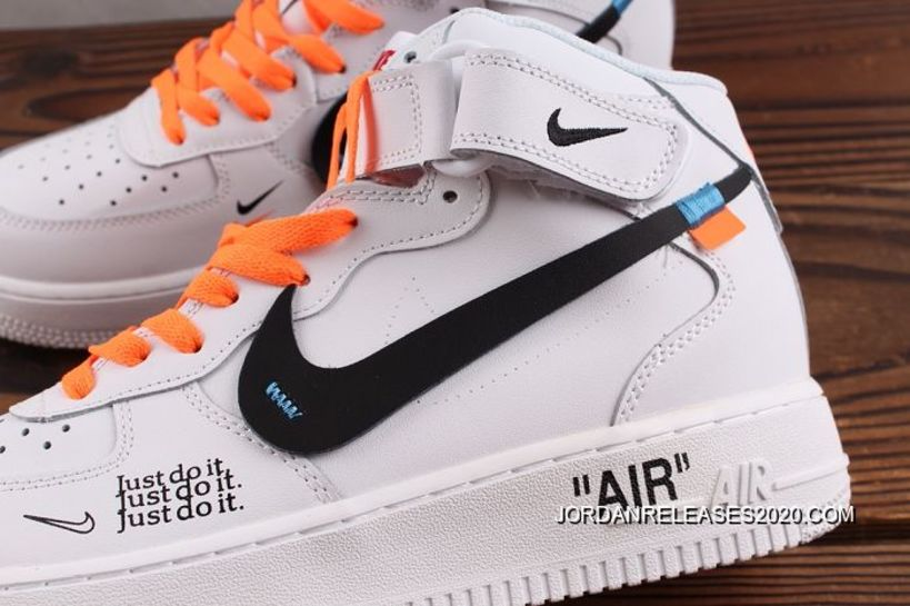 Buy Now Men OFF WHITE X Nike Air Force 1 Just Do It Logo SKU
