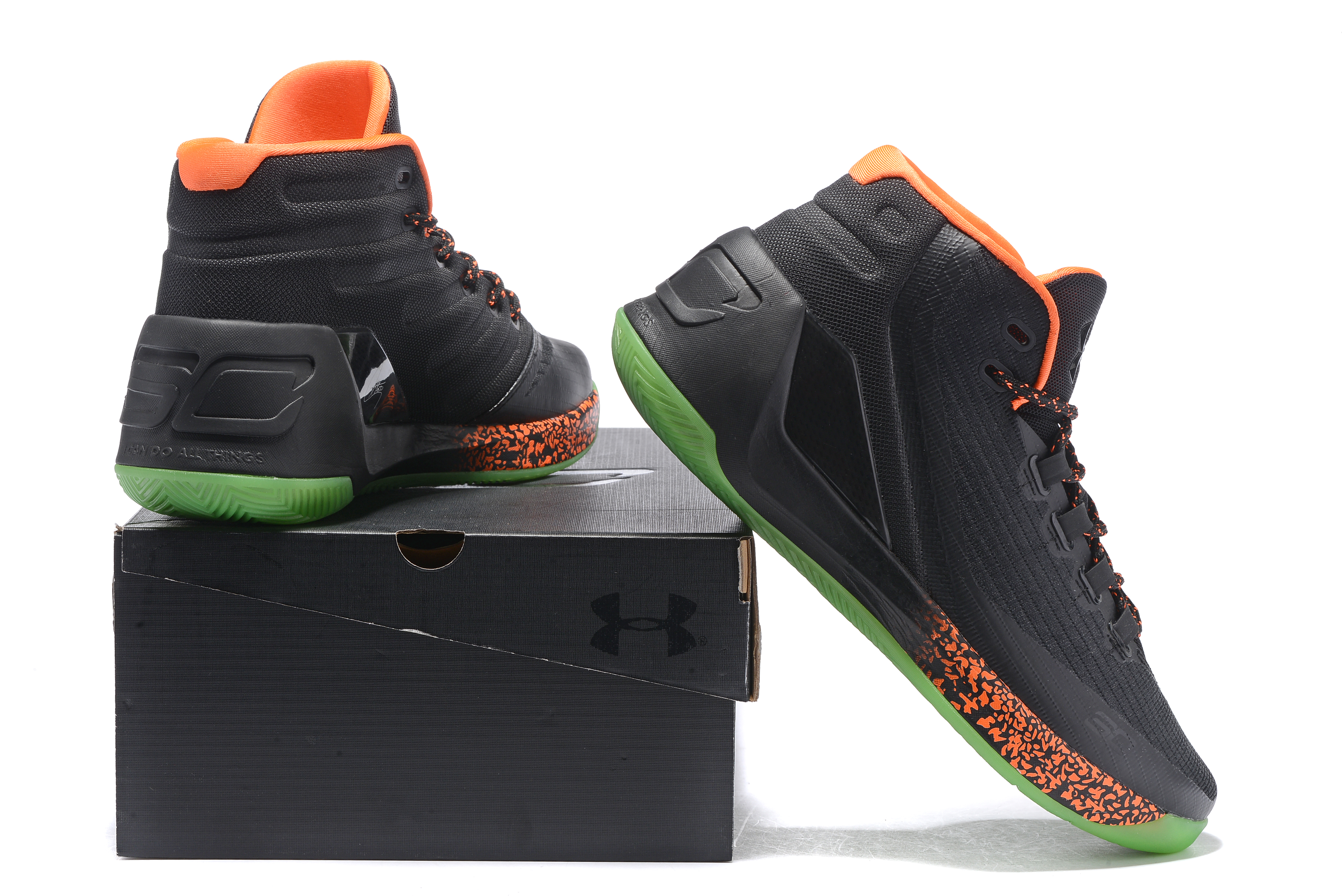 """a07cd87cd47 For Sale Under Armour Curry 3 """"Lights Out"""" Halloween PE"""